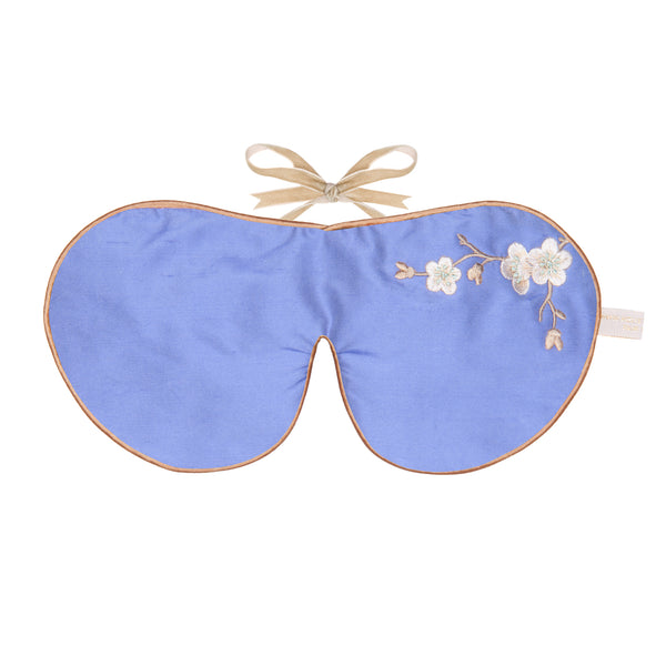 Silk & Velvet Eye Mask with Lavender in Lavender Blossom