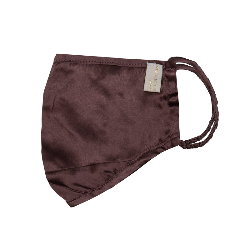 Mulberry Silk Anti-Pollution Face Mask in Plum