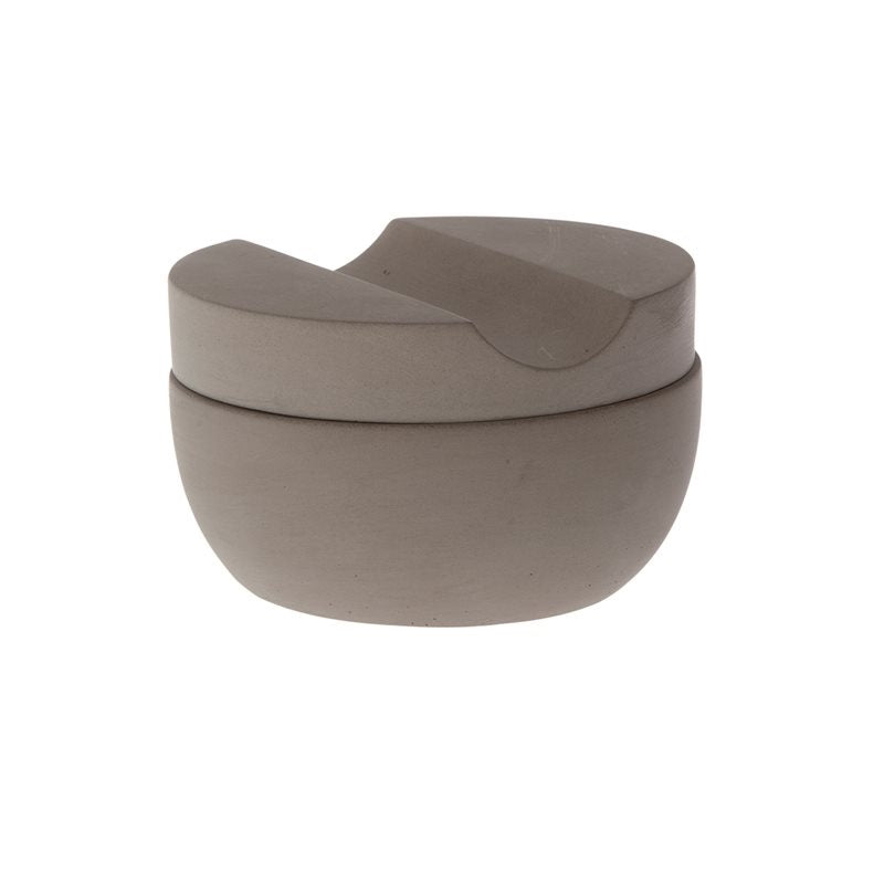 Concrete Shaving Cup & Lid with Cedarwood Soap