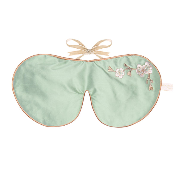 Holistic Silk Eye Mask in Jade Blossom