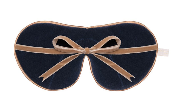 Silk & Velvet Eye Mask with Lavender - Khaki / Blossom