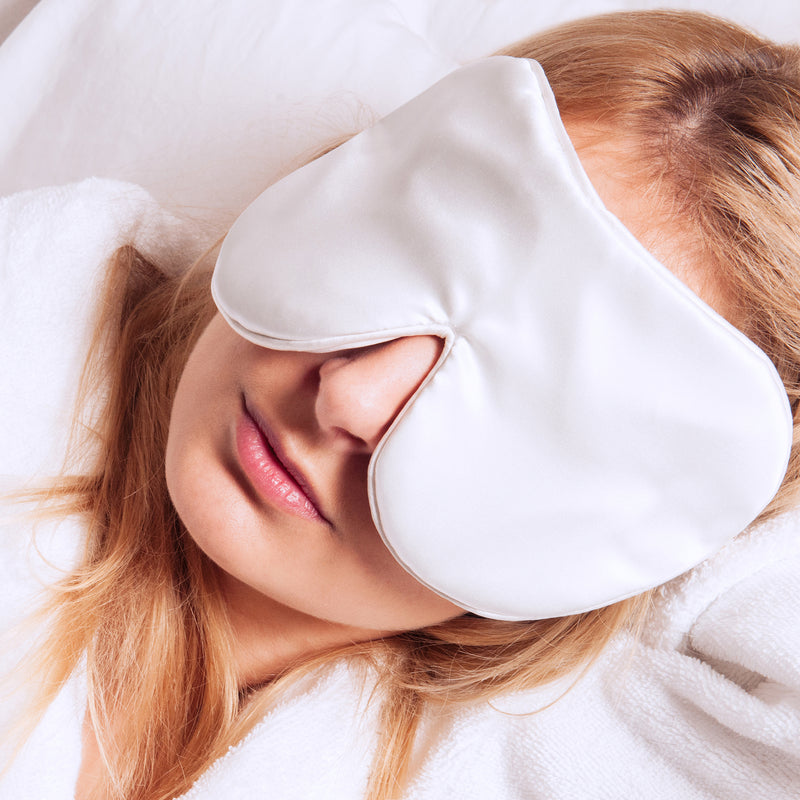Anti-Age Pure Mulberry Silk Eye Mask Unscented - White