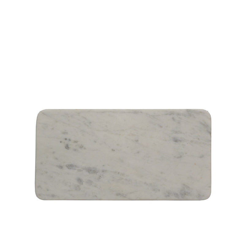 Rectangular White Marble Bathroom Plate 25x13cm