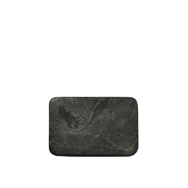 Grey Slate Rectangular Soap Dish 13x9cm