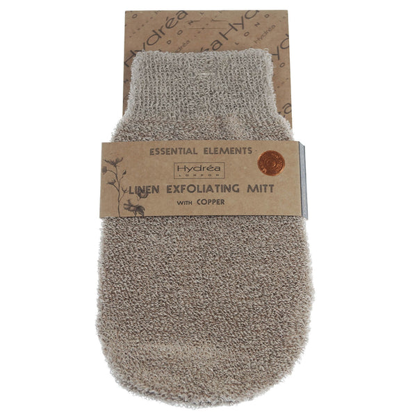 Hydrea Exfoliating Linen & Copper Bath Mitt