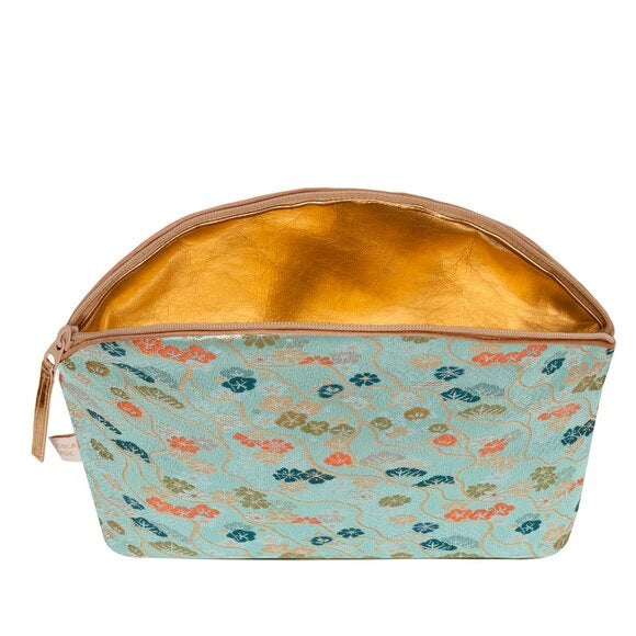Holistic Silk Brocade Make-Up Bag with Lavender | Japanese Jade