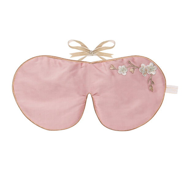 Silk & Velvet Eye Mask with Lavender in Rose Blossom
