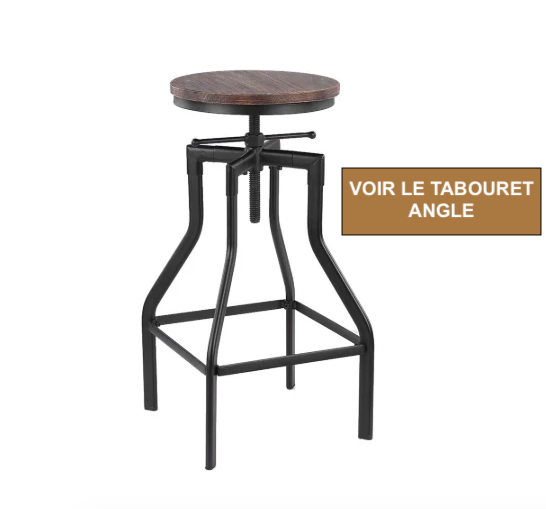 Tabouret Bar Bois Metal