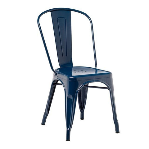Chaise Industrielle Couleur Bleu