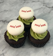 corporate branded mini cupcakes