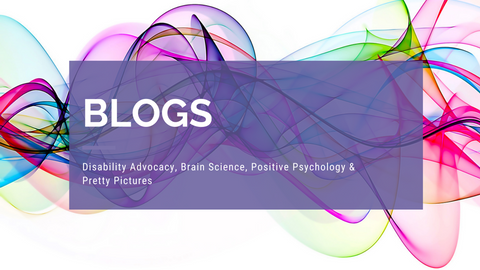 Blogs on a purple banner over a rainbow wave of transparent colours