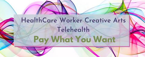 healthcare worker pay what you want on a rainbow swirl
