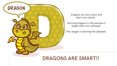 dragon and the letter D