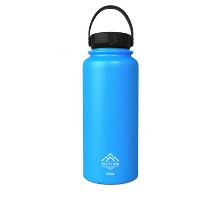 Blue 32oz Double Walled Insulated Water Bottle | Tru Flask