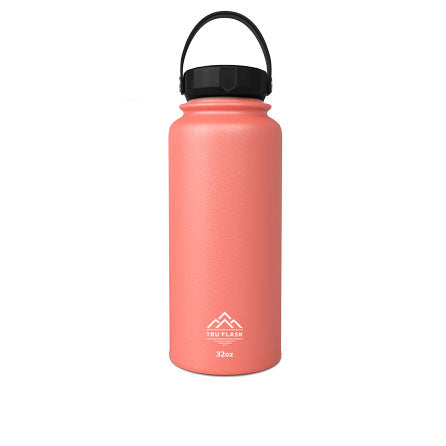 Salmon 32oz Double Walled Insulated Water Bottle | Tru Flask