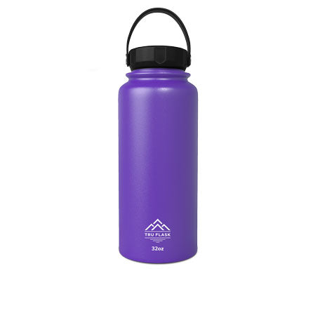 Purple 32oz Double Walled Insulated Water Bottle | Tru Flask32oz Double Walled Insulated Water Bottle | Tru Flask