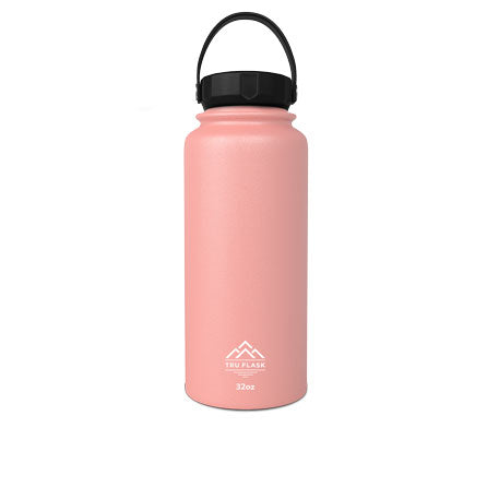 Pink 32oz Double Walled Insulated Water Bottle | Tru Flask