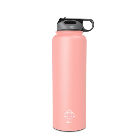Pink 40oz Double Walled Insulated Water Bottle | Tru Flask