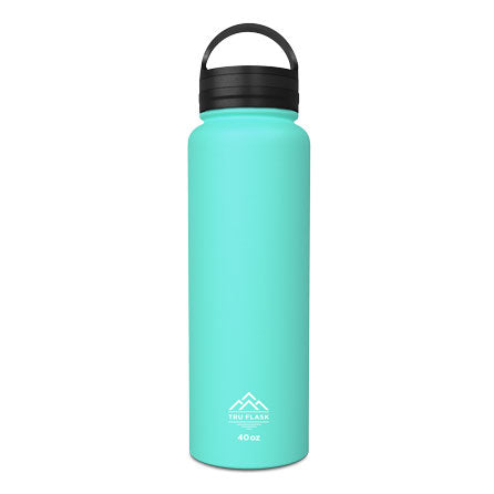 Teal 40oz Double Walled Insulated Water Bottle | Tru Flask