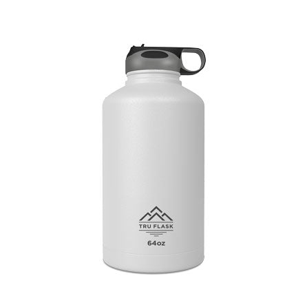 White 64oz Double Walled Insulated Water Bottle | Tru Flask