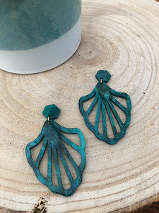 Ariel earrings (green)