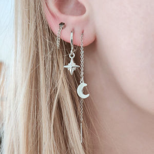 Minimalistic Northern Star Earrings