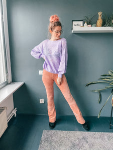 PeachPerfect Velvet Pants (roze)