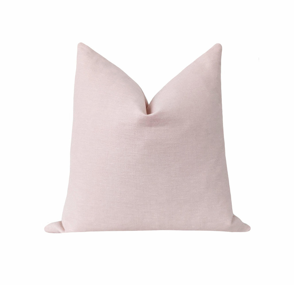 100% Linen Blush Pink Pillow - Land of Pillows
