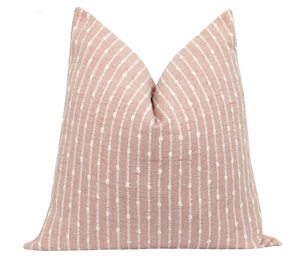 Aberdeen Blush Pink Stripe Pillow - Land of Pillows