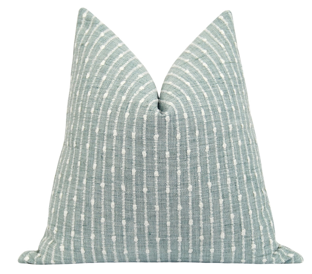Aberdeen Seafoam Green Stripe Pillow - Land of Pillows