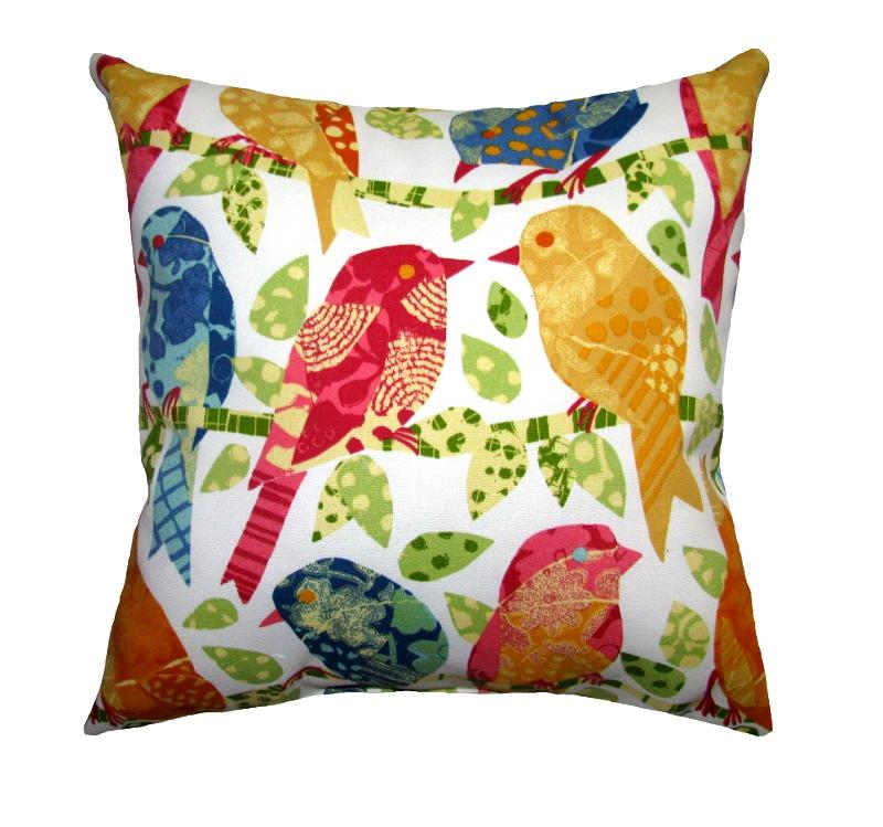 Ash Hill Garden Outdoor Bird Pillow - Land of Pillows