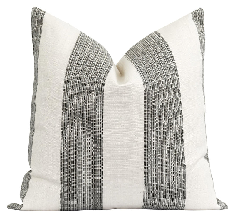 Bedford Woven Black Stripe Pillow - Land of Pillows
