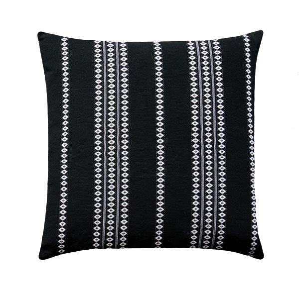 Black and White Finnish Stripe Throw Pillow - Land of Pillows