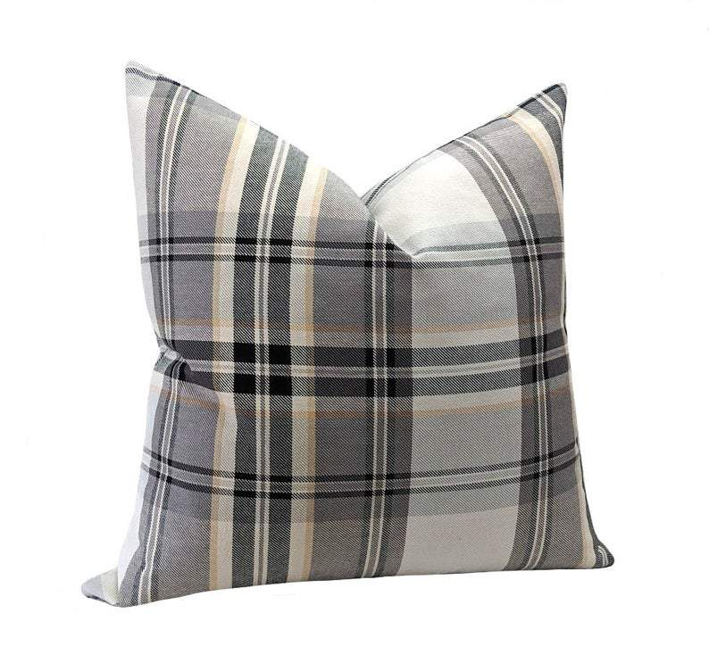 Fritz Denim Blue Rustic Woven Stripe Pillow