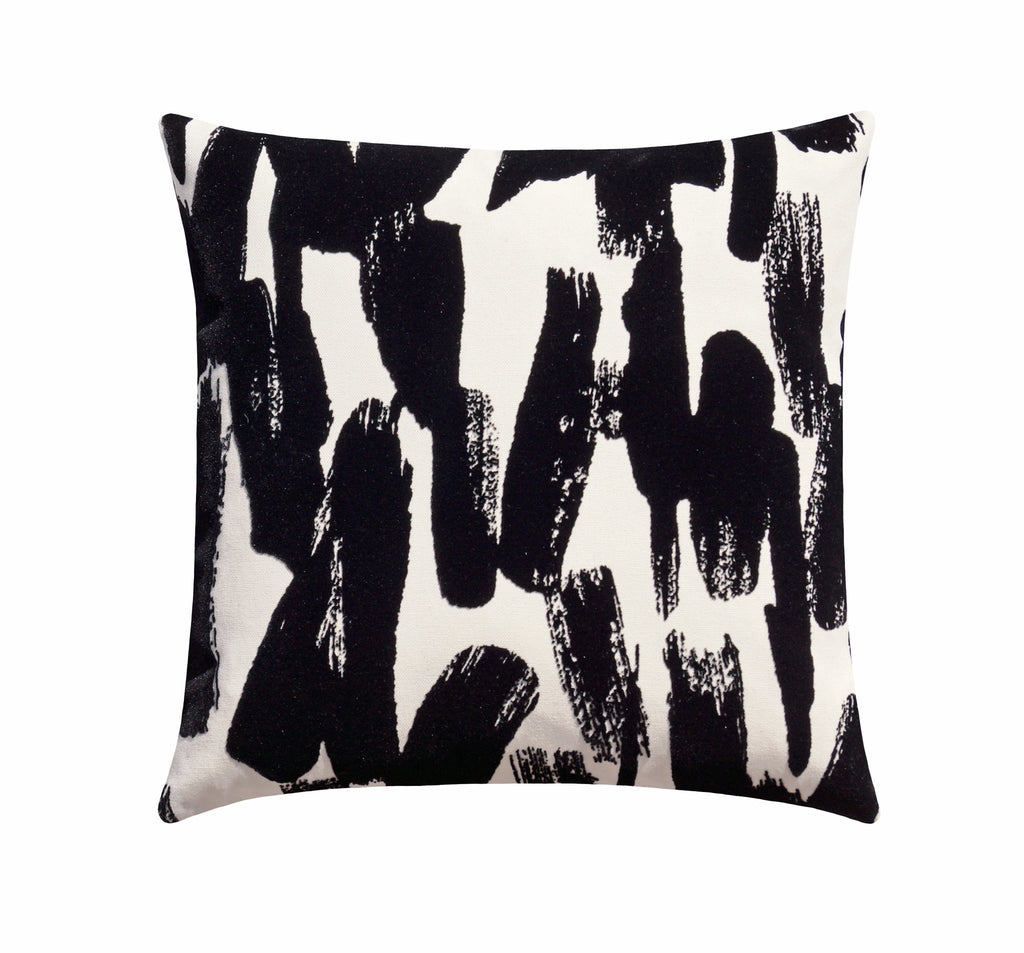 Black Velvet Brushstroke Pillow - Land of Pillows