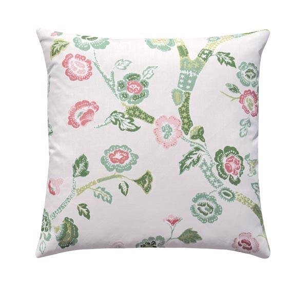 Blossom Dearie Celery Linen Floral Pillows - Land of Pillows