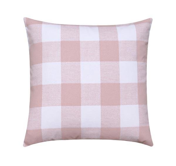 Blush Pink Buffalo Check Pillow - Land of Pillows