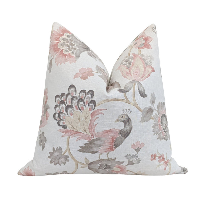 Abbeyville Blush Floral Print Pillow