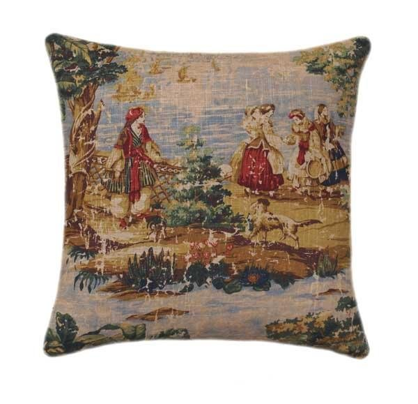 Bosporus Toile Billard Pillow - Land of Pillows