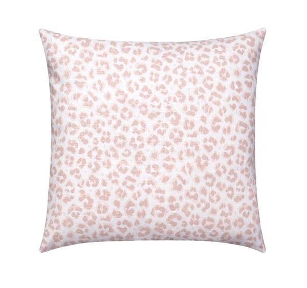 Cameo Blush Pink Leopard Print Pillow - Land of Pillows