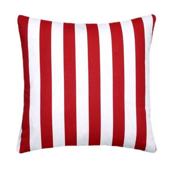 Canopy Lipstick Red Stripe Pillow - Land of Pillows