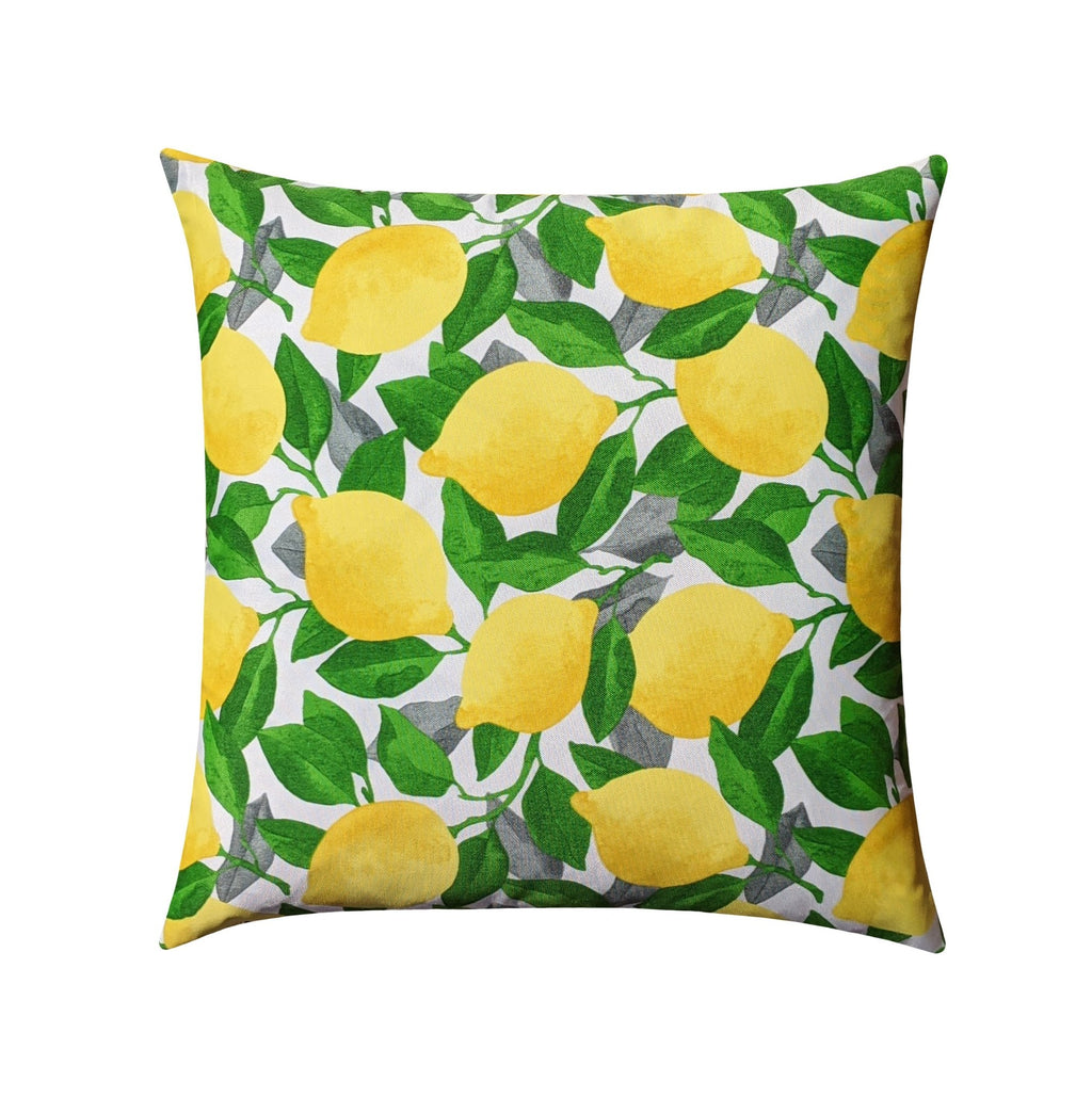 Citrus Lemon Outdoor Leaf Pillow - Land of Pillows