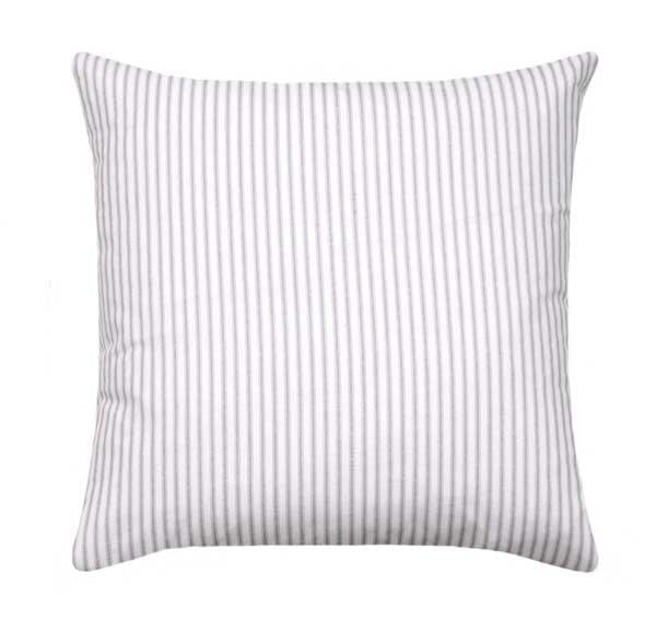 Classic Ticking Stipe Storm Grey Pillow - Land of Pillows