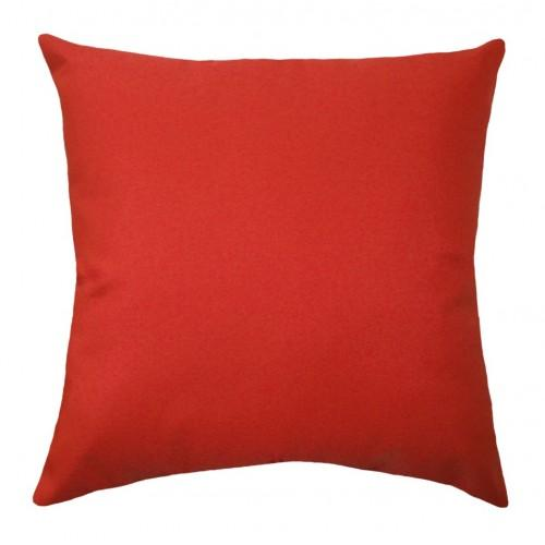 CLEARANCE Sunbrella Canvas Logo Red Outdoor Pillow - Land of Pillows