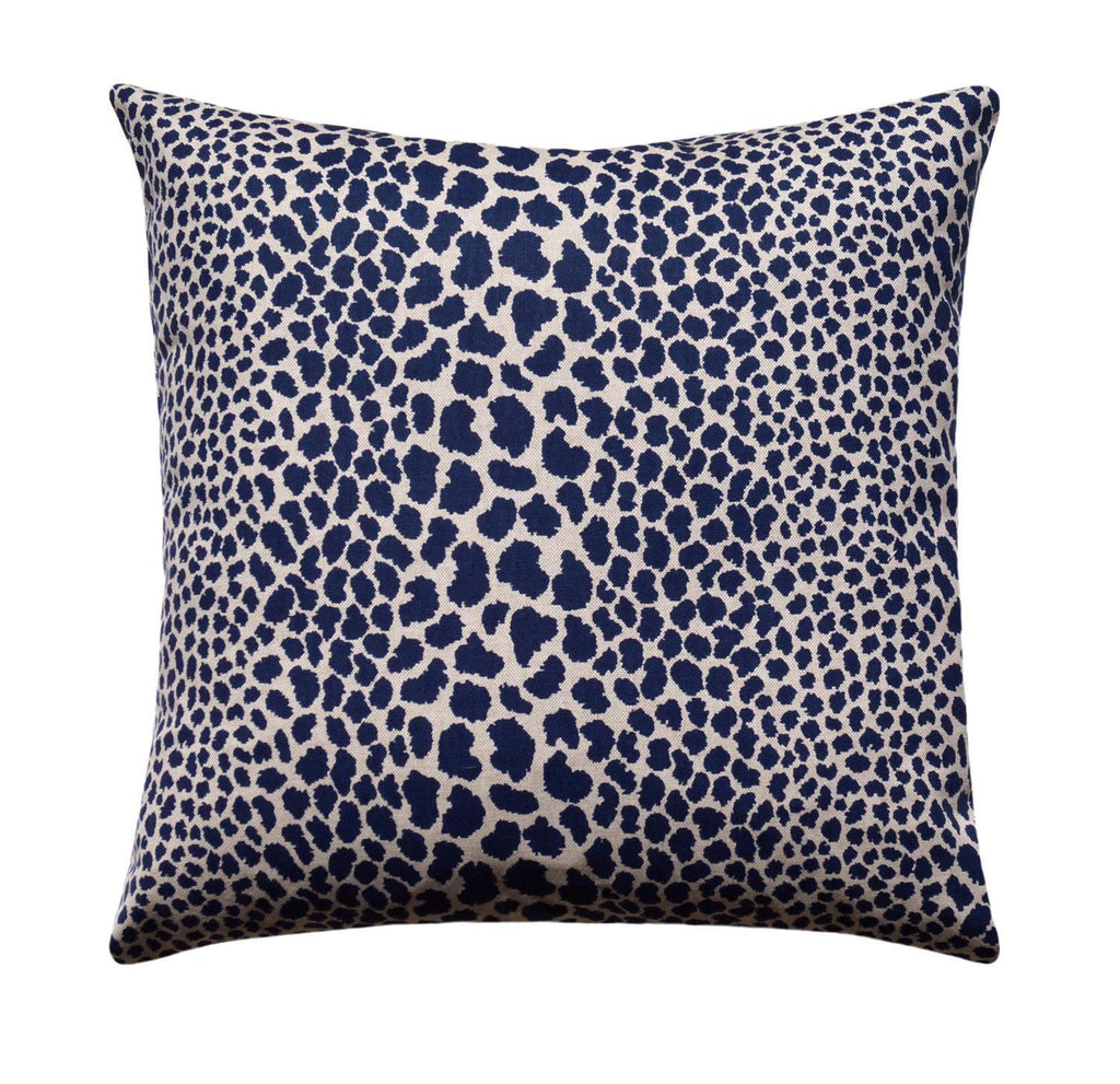 Cosmo Indigo Blue Leopard Print Pillow - Land of Pillows