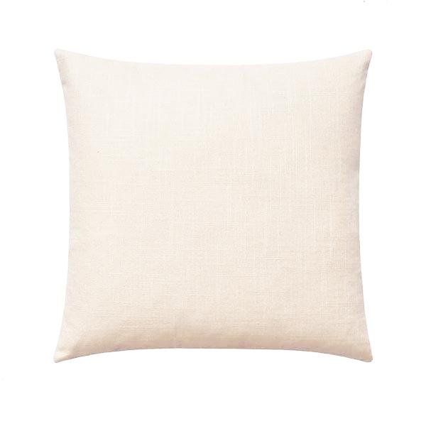 Creamy Ivory Solid Linen Pillow - Land of Pillows