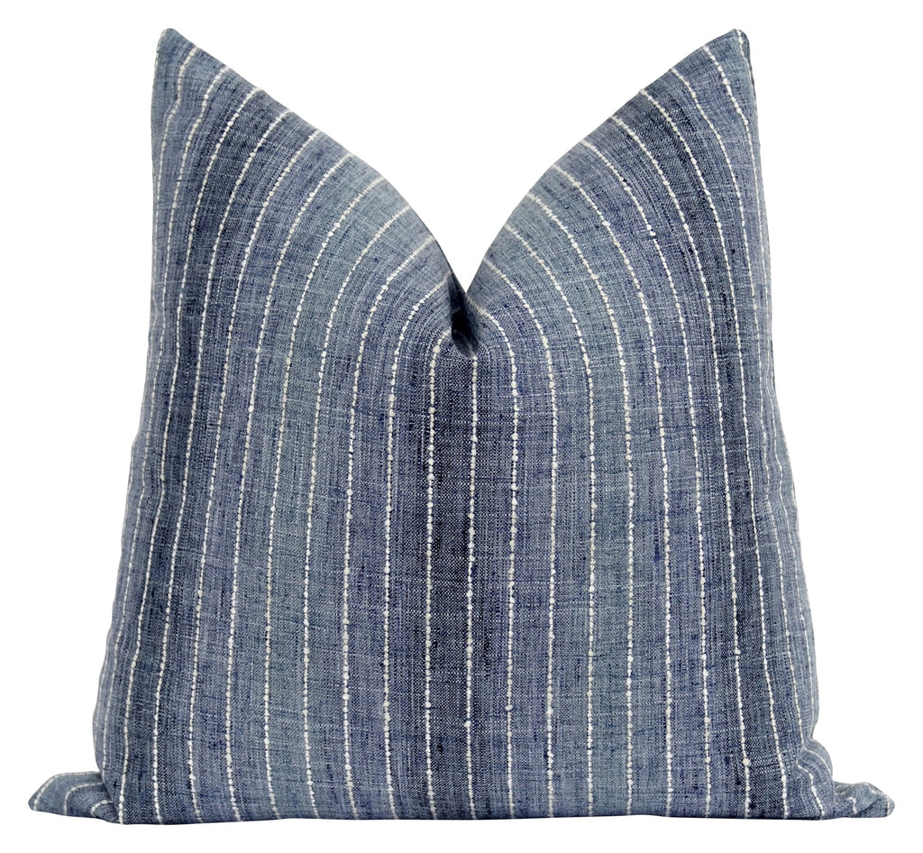 Crewe Lake Blue Ombre Stripe Pillow - Land of Pillows