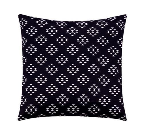 Dart Shadow Black Mudcloth Outdoor Pillow - Land of Pillows