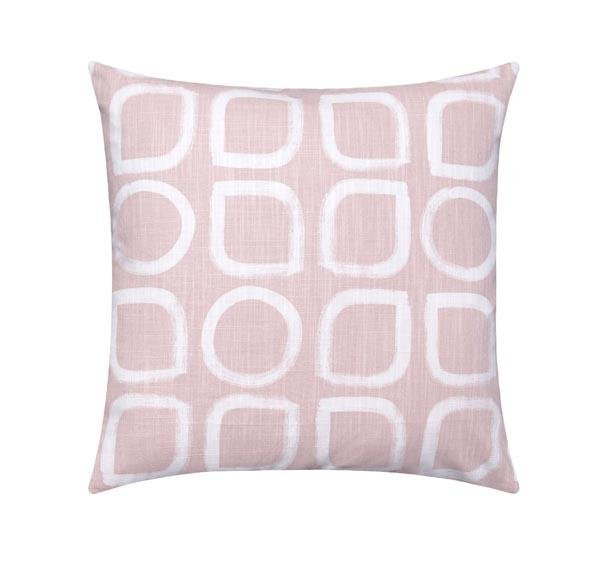 Dawn Blush Pink Block Print Pillow - Land of Pillows