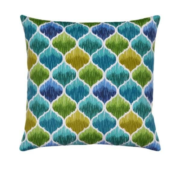 Denali Caribbean Outdoor Moroccan Quatrefoil Pillow - Land of Pillows